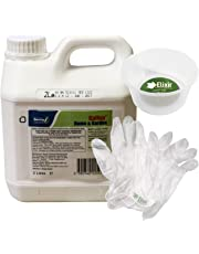 Barclay Gallup Home & Garden Glyphosate Commercial Strength Weed killer (treats upto 3332 sq/m) 2Lt Bottle + Complimentary Measuring Cup and Gloves by Elixir Gardens