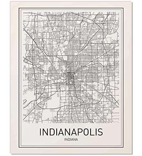 Amazon.com: City Maps, Map Print, City Map Poster, Indianapolis Map on