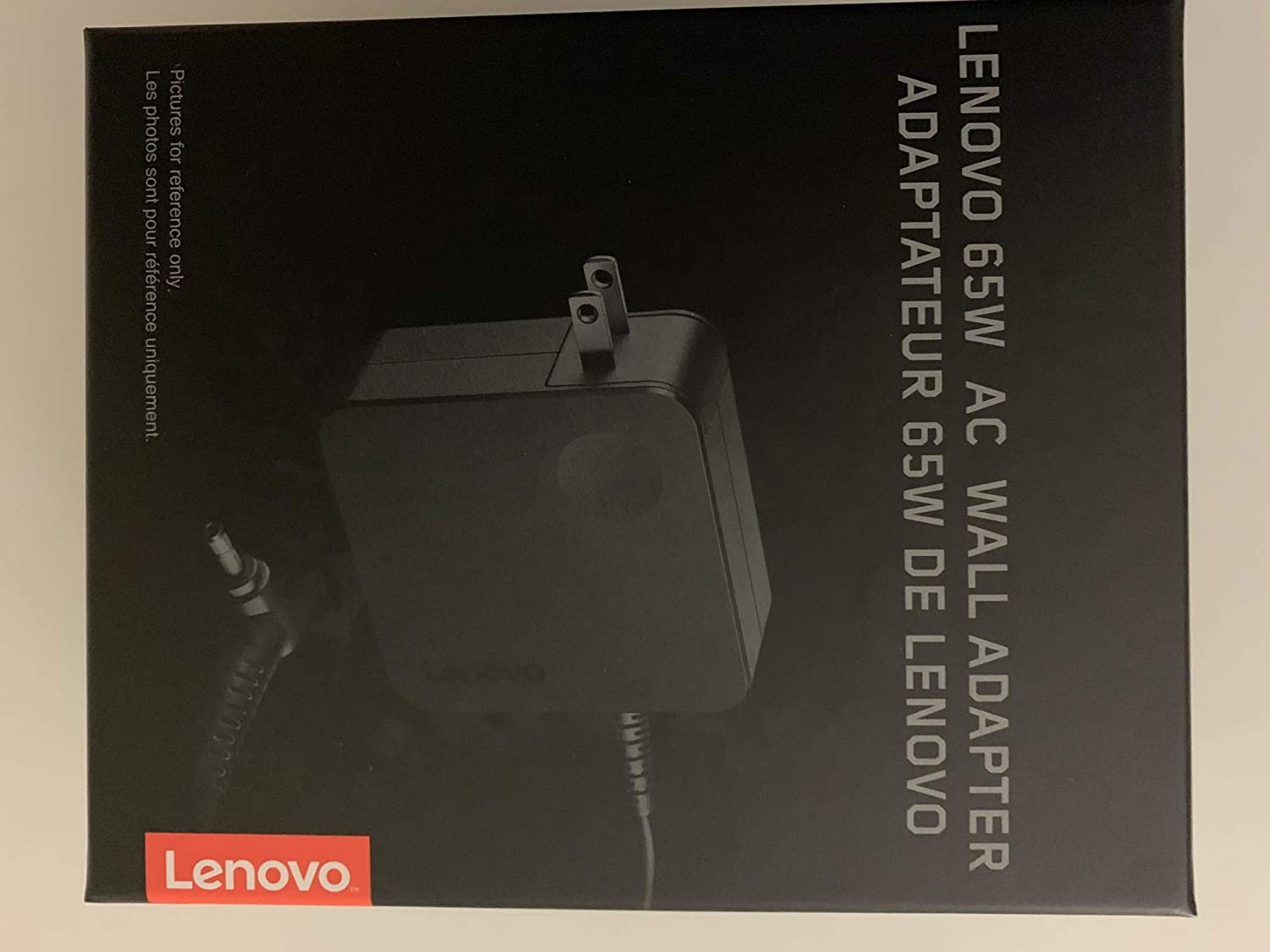 Lenovo 65W AC Wall Adapter P/N: GX20L29355 for Lenovo Notebooks: Ideapad Flex 4-1480-80VD, Ideapad Flex 4-1580-80VE, Ideapad 510S, Compatible with P/N: 5A10K78745, ADLX65CLGU2A - Retail Box.