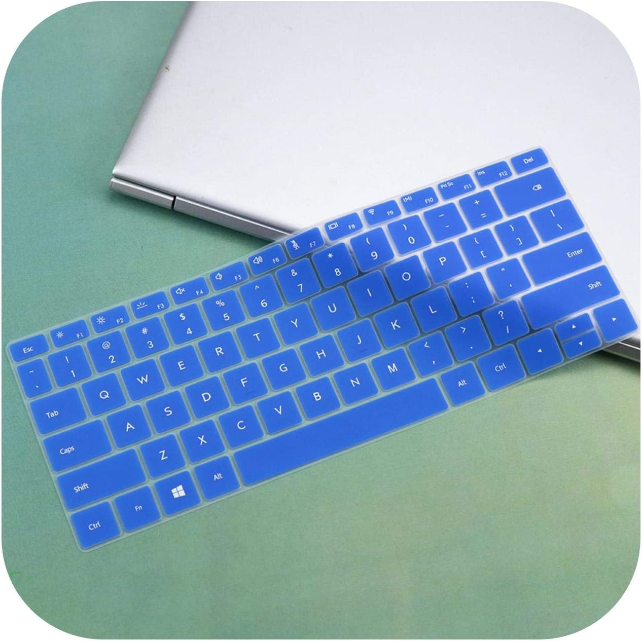 Notebook D14 14.0 Silicone Laptop Keyboard Cover Protector Skin-Candyblue AMD for Huawei Matebook D 14 Inch