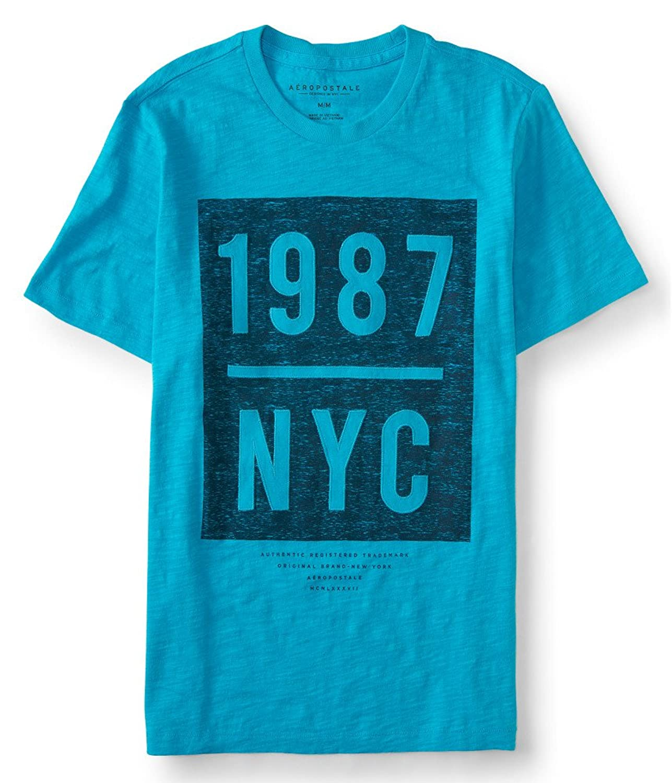 Aeropostale Men's 1987 Nyc Box Logo Graphic T Shirt