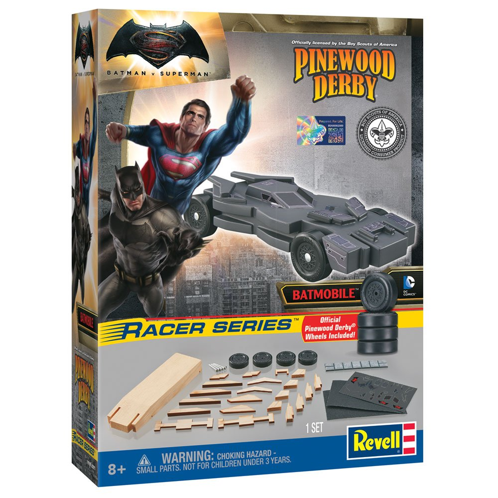 Amazon Revell Batman Dawn Of Justice Racer Pinewood Derby Vehicle Kit Toys Games
