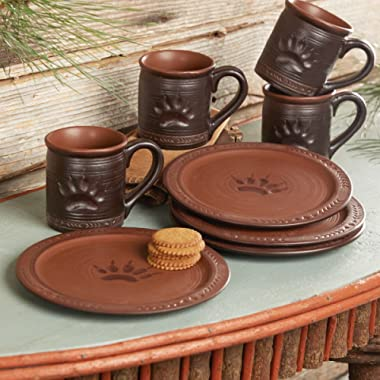 BLACK FOREST DECOR Bear Paw Snack Plates - Set of 4