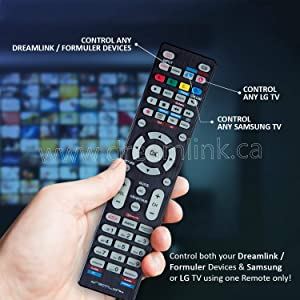Dreamlink Remote - Universal Replacement Remote Control for All Dreamlink/Formuler Boxes, Samsung Tv and LG Tv (Pack of 1)