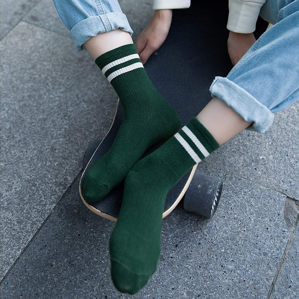 calzini comodi FOANA Calzini da skateboard in cotone a righe moda unisex