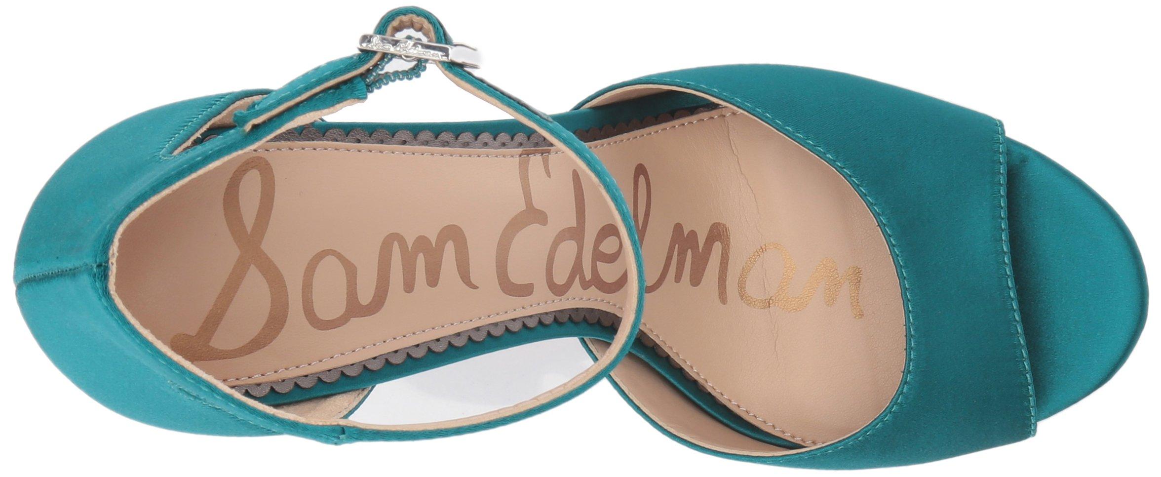 Sam Edelman Women's Wallace Heeled Sandal, Jungle Green Satin, 5 Medium US by Sam Edelman (Image #8)