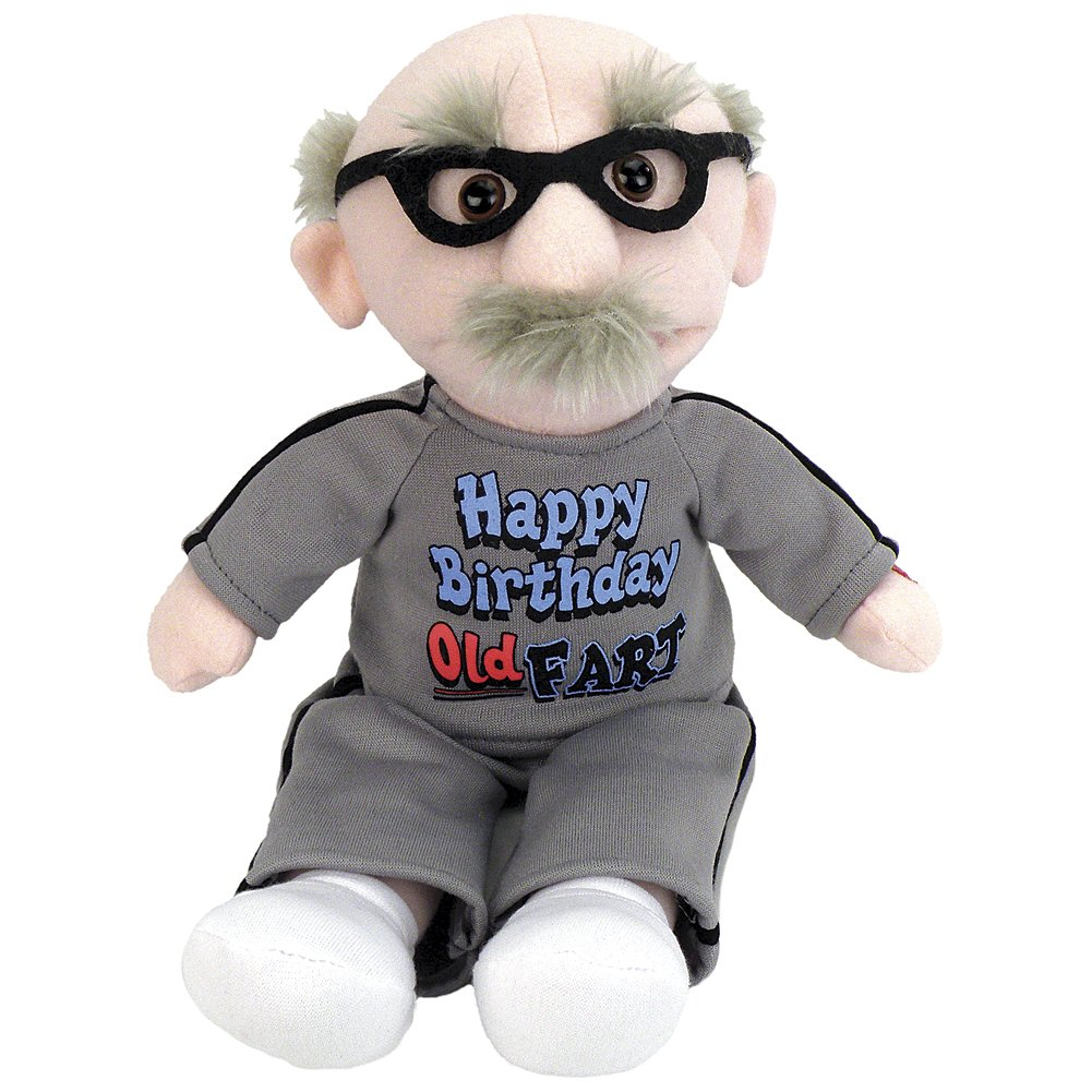 "las mejores marcas venden barato Chantilly Lane 9"" Old Fart Fart Fart Sing Happy Birthday Plush by Chantilly Lane  ventas de salida"