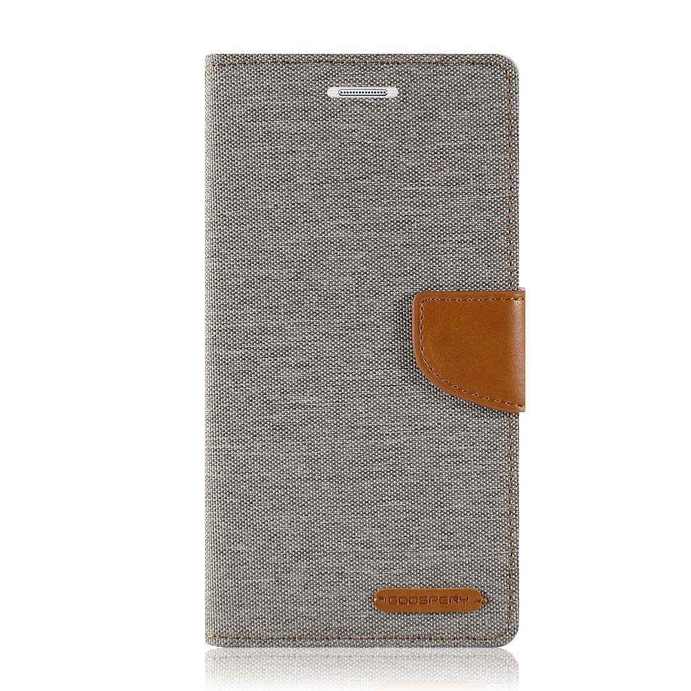 Samsung Galaxy S5 Case Mercury Goospery Canvas Denim J5 Prime Diary Blue Wallet Card Cash Slot Stand Drop Protection Flip Cover Gray Cell Phones