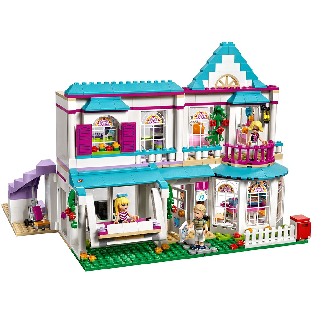 d01050d6ec4 Amazon.com: LEGO Friends Stephanie's House 41314 Build and Play Toy House  with Mini Dolls, Dollhouse Kit (622 Pieces): Toys & Games
