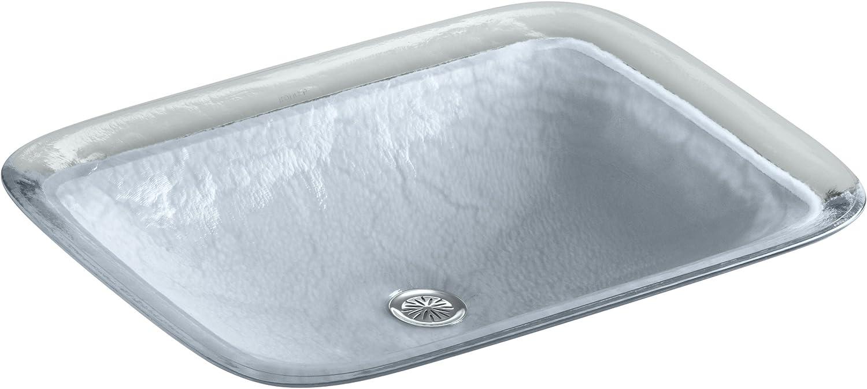 Opaque Dusk KOHLER K-2773-G1-B11 Inia Wading Pool Glass Drop-In Rectangular Bathroom Sink