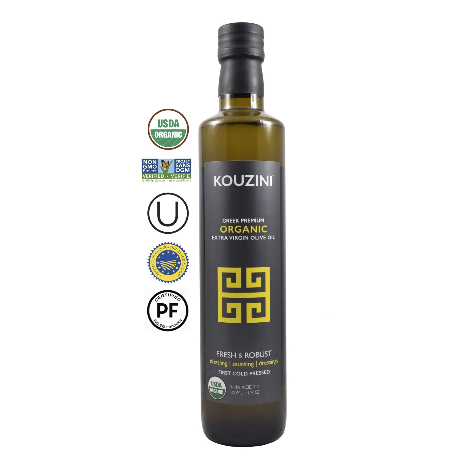 Organic Kouzini Extra Virgin Greek Olive Oil 500ml Current year harvest by Kouzini