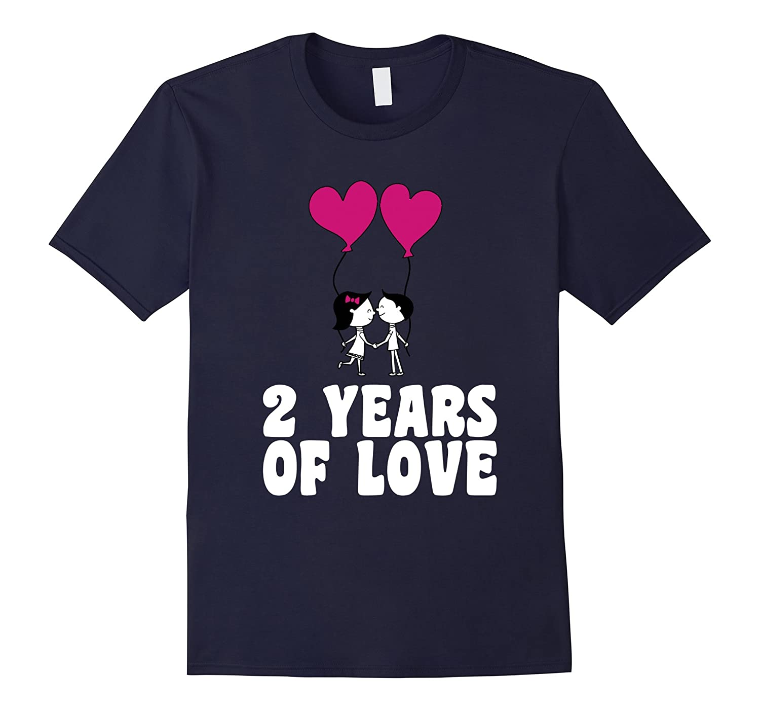 2 Years Of Love Wedding Anniversary Gift T-Shirt-CD