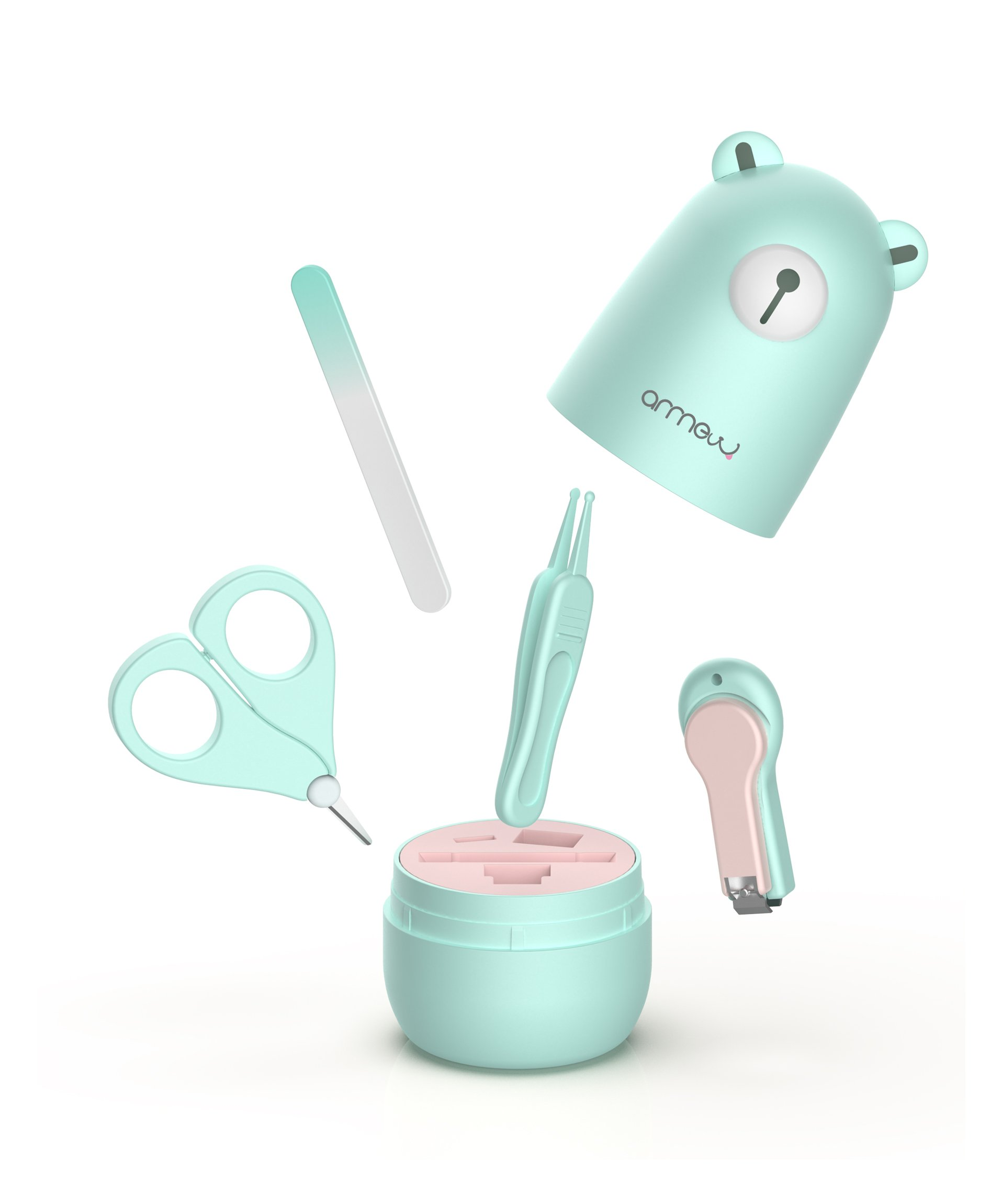 Amazon Com Baby Manicure Set By Arrnew 4 In 1 Grooming