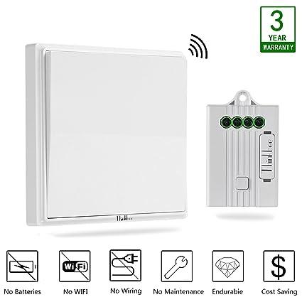 thinkbee wireless light switch kit no battery no wiring no wifi rh amazon com smart light switch no wiring add light switch without wiring