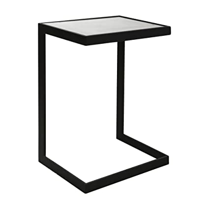 Brilliant Amazon Com Minimalist Cantilever Black Iron Accent Table Caraccident5 Cool Chair Designs And Ideas Caraccident5Info