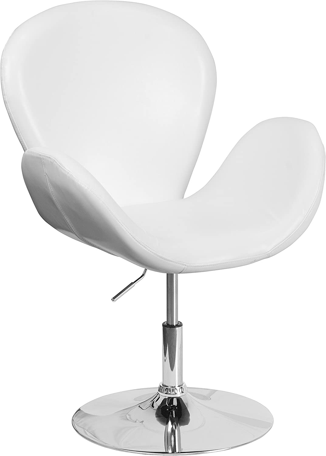 Flash Furniture White Leather Side Chair