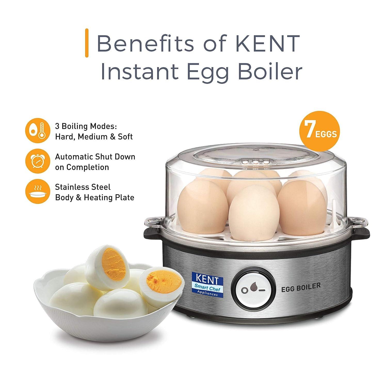 Open-Box & Refurbished (Unused) KENT Egg Boiler 360-Watt (Transparent and Silver Grey) kida.in