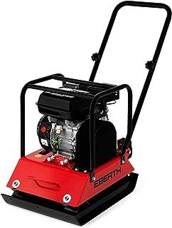 EBERTH 6,5 CV Piastra vibrante con Tappeto in gomma (4,8 kW Motore a benzina a 4 tempi, 20 kN Pressione d'impatto, Protezione da mancanza olio)