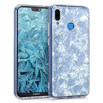 kwmobile Funda para Huawei P20 Lite - Carcasa para móvil de [TPU] con diseño anacarado - [Blanco]