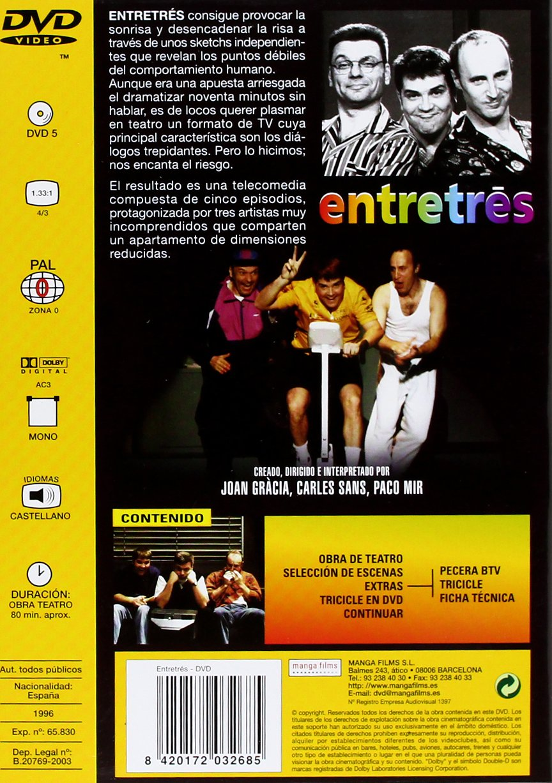 Tricicle 6. Entretrés [DVD]: Amazon.es: Joan Gràcia, Carles Sans, Paco Mir: Cine y Series TV