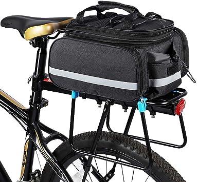 HHHKKK Alforjas Bici, Bolsa de Bicicleta Impermeable Alforja de ...