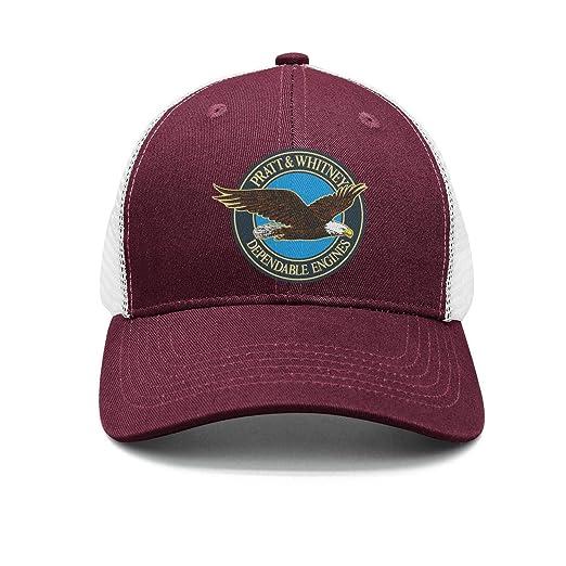 e81f9799b4e214 M.STRA Unisex Maroon Baseball Hat for Mens Womens Cool Pratt-and-Whitney