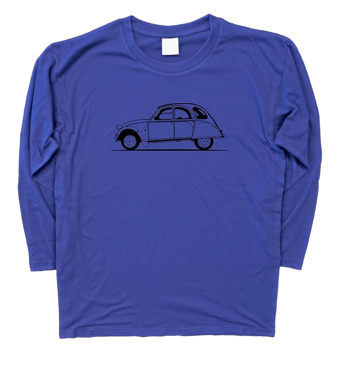 Mens Original Sketch Citroen 2CV Long Sleeve T-Shirt S 3XL