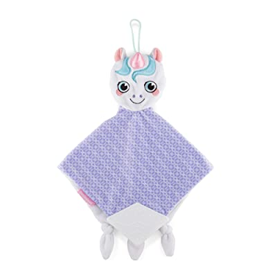 BooginHead Baby Newborn PaciPal Teether Blanket Pacifier Holder Unicorn, Purple/Pink (TB-Unicorn) : Baby