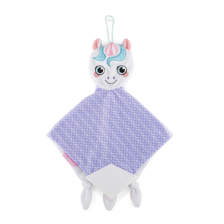 Purple//Pink BooginHead Baby Newborn PaciPal Teether Blanket Pacifier Holder Unicorn