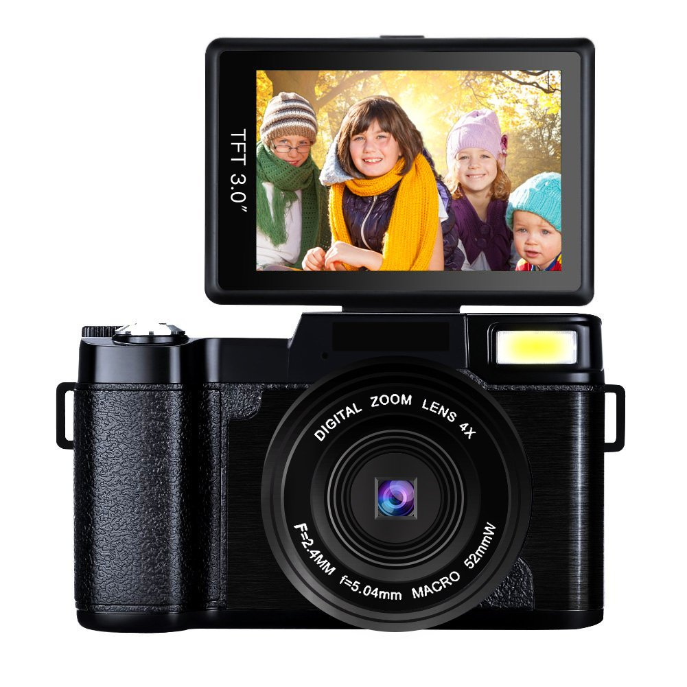 Video Camera Camcorder Full HD 1080p 24MP Digital Camera Retractable Flash Light Vlogging Camera With UV Lens