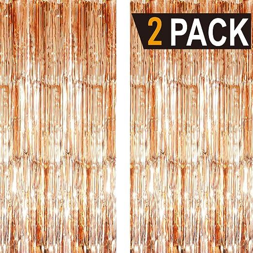 Goer Fransenvorhänge Aus Metallic Lametta Folie 1 X 3 M Für Party Foto Hintergrund