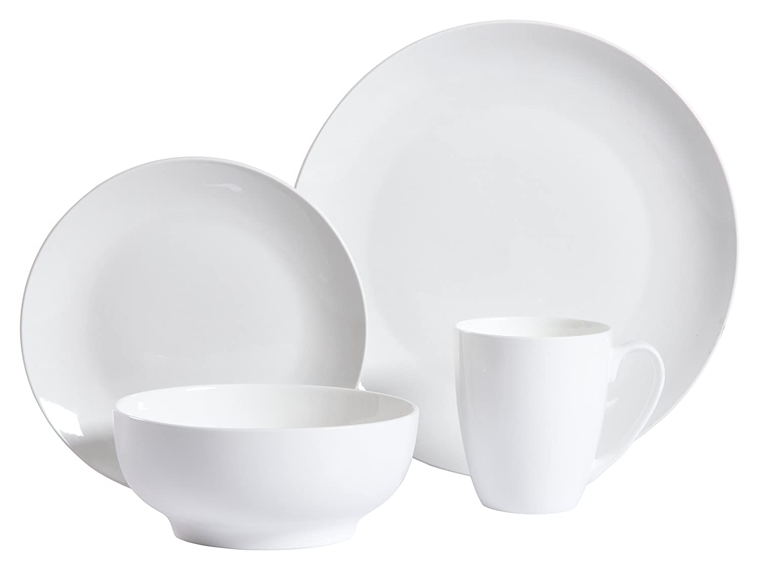 Gibson Home 92888.16RM Ogalla 16 Piece Dinnerware Set, White