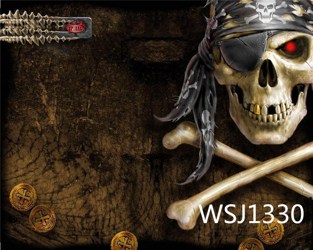 7x7FT Vinyl Photography Backdrop,Skull,Abstract Skulls Photo Background for Photo Booth Studio Props