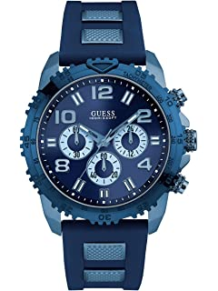GUESS Mens Blue Oversized Chronograph Watch