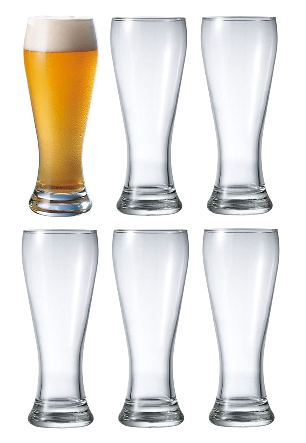 Durobor Danube Beer Lager Glass Glasses 660ml Set of 6