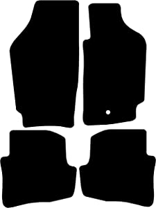 Connected Essentials 5034170 Black with Black Trim Tailored Heavy Duty Custom Fit Rubber Car Mats Alfa Romeo 159 (2005-2011)