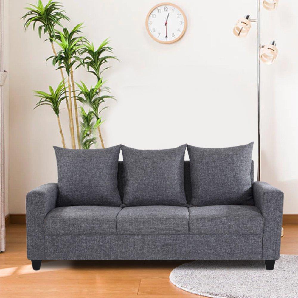 Furny Juan Three Seater Sofa (Grey)
