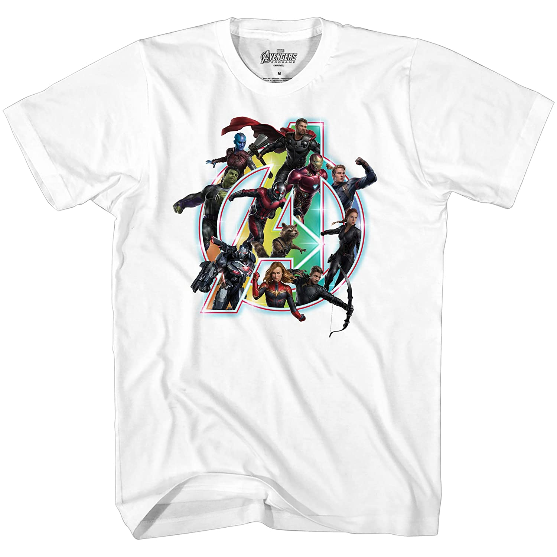 6ccac2c57 Marvel Avengers Endgame Iron Man Captain America Graphic T-Shirt    Amazon.com