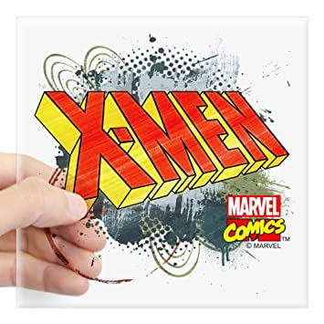 Cafepress classic x men square sticker 3 x 3 square bumper sticker