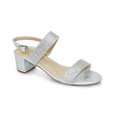 Unbekannt Lunar, Damen Sandalen Weiß Weiß