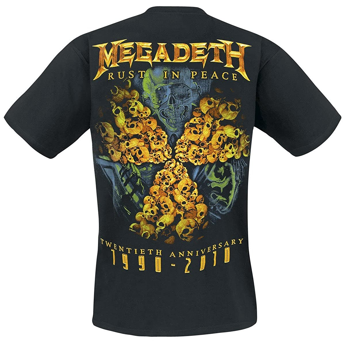 Anniversary Live Nation Megadeth Rust in Peace T-Shirt Manches Courtes Noir