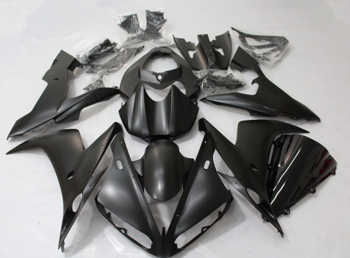 Gloss Black Fairing Kit for Compatible with Yamaha YZF R1 2004 2005 2006 ABS Bodywork YZF-R1 04 Y1005 HTTMT