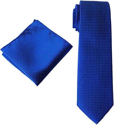 MOHSLEE Mens Formal Striped Suit Tie Handky Banquet Necktie /& Pocket Square Set