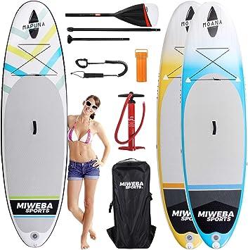 miweba Moana Stand Up Paddle Sup Surf Tabla hinchable 305 & 325 cm ...