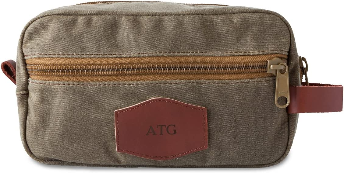 Field Tan Blind Mens Waxed Canvas personalized Travel Bag