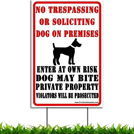 "12/""X18/"" NO TRESPASSING BEWARE OF DOGS ALUMINUM SIGNS Heavy Duty Metal Warning"