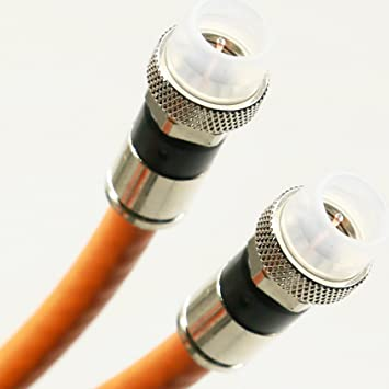 135ft ORANGE 3Ghz DIRECT BURIAL UNDERGROUND RG6 COAXIAL CABLE 18AWG GEL COAT BRAID WEATHER BOOT NICKEL
