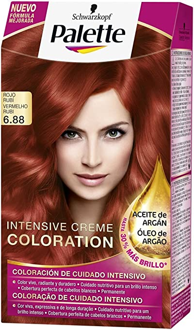 Palette Intense - Tono 6.88 Rojo Rubí - Coloración Permanente ...