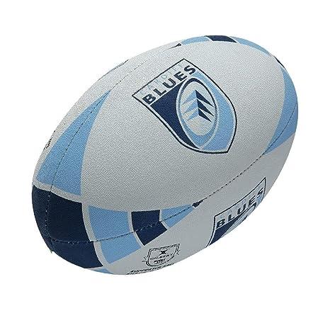 Pelota Rugby GILBERT Cardiff Blues Aficionado 2014 [blanco ...