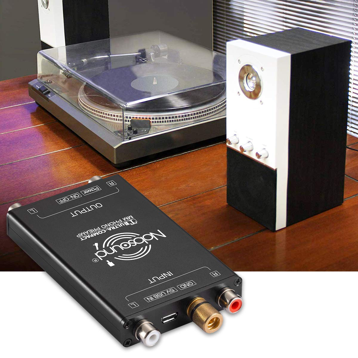 Nobsound T1 Plattenspieler MM Phono Preamp; Mini Plattenspieler Vorverst/ärker Hi-Fi Audio Stereo Phonograph Vorverst/ärker Phono B/ühne ultrakompakt